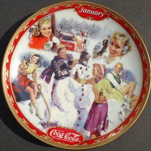 Bradford Exchange Coca-Cola JANUARYCollector Plate